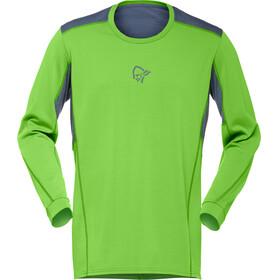 Norrøna Falketind Super Wool Bluzka z długim rękawem Mężczyźni zielony